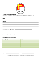 GDFC Athlete Registration Form